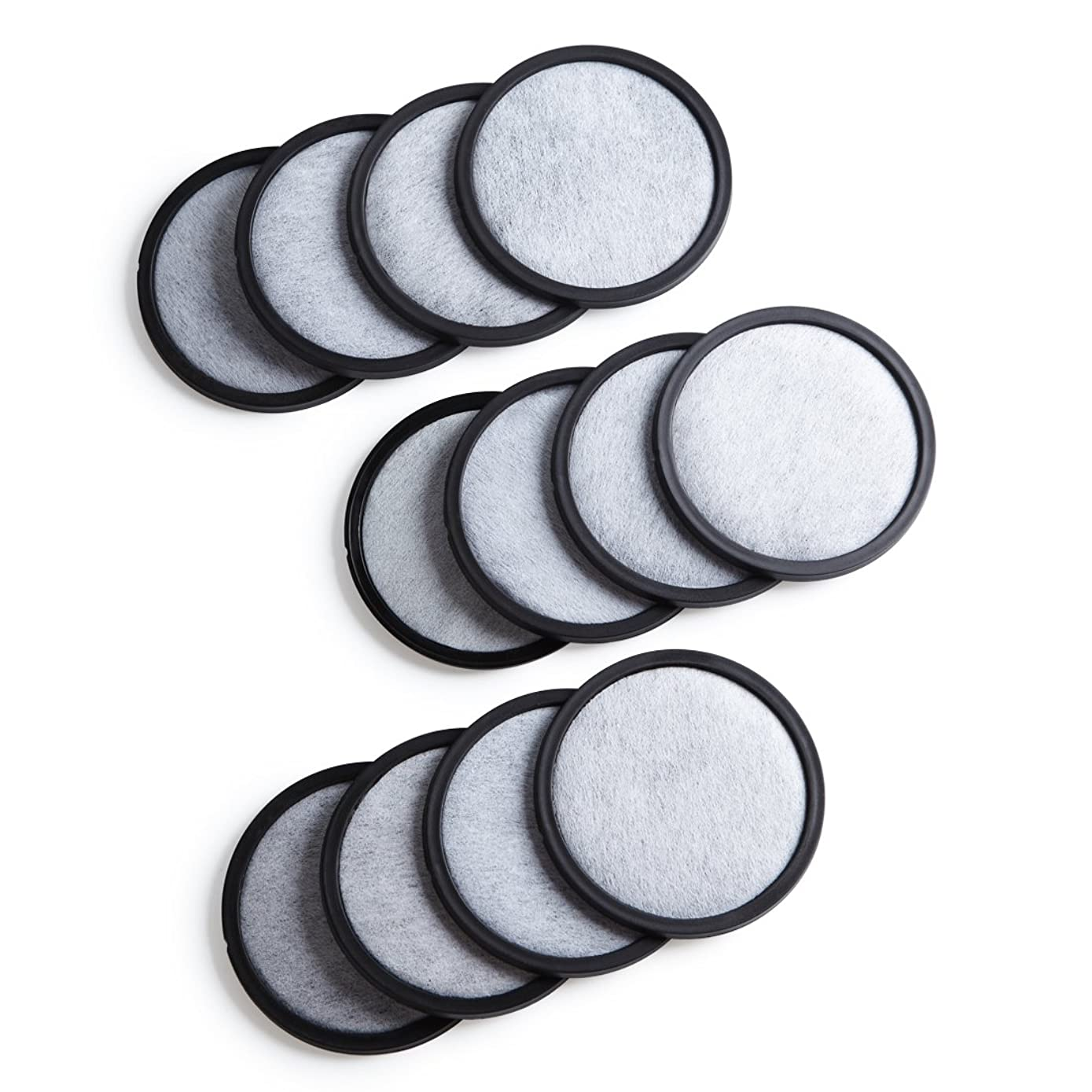 Geesta 12-Pack Premium Activated Charcoal Water Filter Disk for All Mr. Coffee Models