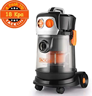 TACKLIFE Wet Dry Vacuum, 4 Gallon, 4 Peak hp Dust Extractor, 1.5 m Extension Hose, 5m Power Cord, Ideal for Home, Car, Workshop