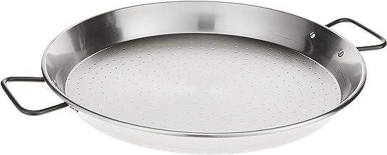La Paella Garcima 16-Inch Pata Negra Restaurant Grade Paella Pan, 40cm, Medium, Silver