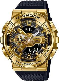 ساعة يد كاسيو جى شوك رقمية تناظرية للرجال بواجهة معدنية GM-110G-1A9DR