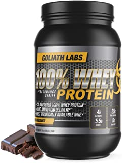 Goliath Labs 100% Whey Protein, Cold Filtered Whey Protein - Rapid Amino Acid Delivery - Natural Coco for a Rich Chocolate Flavor - Tub Weighs 5 Pounds, Contains 68 Servings