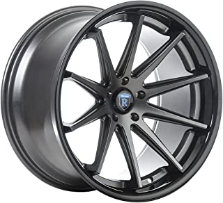Rohana Wheels RC10 Graphite Wheel with Painted Finish (20 x 9. inches /5 x 114 mm, 25 mm Offset)