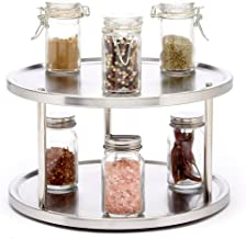 Sagler 2 Tier Lazy Susan Turntable 360-degree Lazy Susan Organizer use for a Spice Organizer or Kitchen Cabinet Organizers...