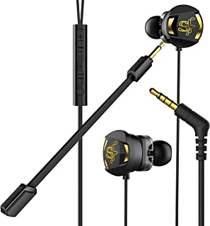 Skyfly Xbot - Wired Gaming Earphones with Dual Driver and Dual mic (one mic Detachable) || Ideal for Mobile Gamers