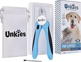 Unkies Dog Nail Clippers Large Breed Heavy Duty Trimmer - Travel Pouch Razor Sharp Blades and Easy to Read Pictured Instructions - Latest Model - FDA Approved
