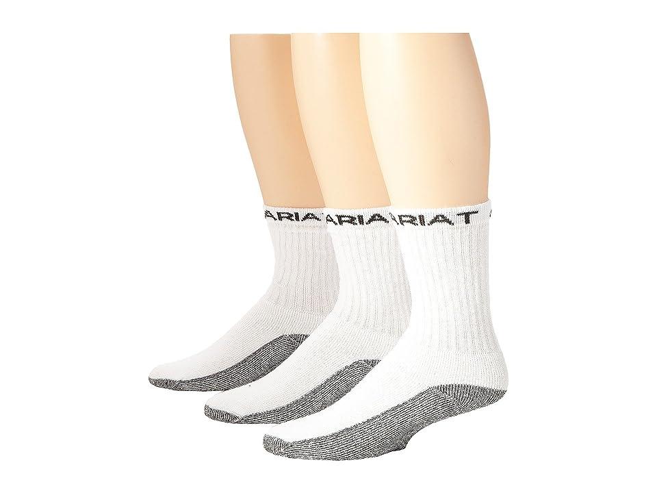 Ariat Ariat Workboot Sock 3-Pack (White) Men
