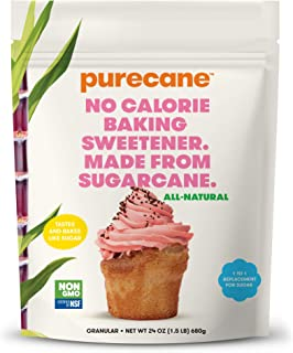 Purecane Sugar Substitute Baking Sweetener | Zero Calorie | Made from All Natural Sugar Cane | Diabetes-fri...