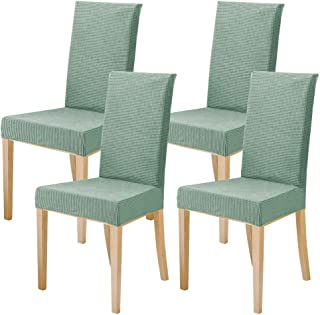 Fancy Queen Stretch Removable Dinning Chair Cover Short Washable Jacquard Spandex Chair Slipcovers Anti-Slip