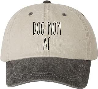 Ameritrends Dog Mom AF Dad Hat Cap Unstructured Hats Dunn New - Beige/Black