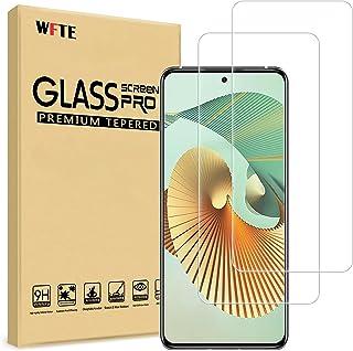 WFTE [2-pack skärmskydd för ZTE Axon 30 Pro, anti-repa, hög transparens, anti-fingeravtryck, bubbelfri, dammfritt premium ...