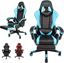 AUSELECT Gaming Chair Ergonomic Computer Chair Racing Style Height Adjustment, Headrest and Lumbar Support E-Sports Swivel...