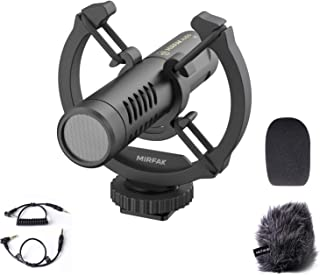 Mirfak Mini On Camera Shotgun Mikrofon, Geeignet für Videoaufnahmen, YouTube  und Vlog Aufnahmen für DSLR Kameras, Kompaktkameras und Mobiltelefone, N2
