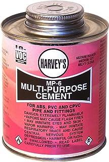 Harvey 018010-24 Bodied Medium Set Multi-Purpose Solvent Cement, 8 Oz, Dauber Can, Milky, Liquid, Clear