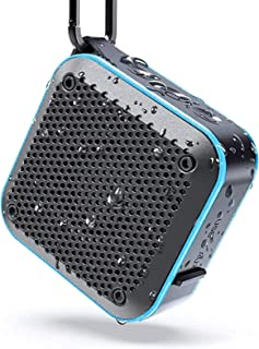【最新版】KIYEDAM BT525 Bluetoothスピーカー完全ワイヤレス ミニ 小型miniコンパクポータブルスピーカー、IPX7防水規格、FMラジオ機能、強化された低音大音量、TWS対応 車載、12時間連続再生、風呂用、アウトドア、内...
