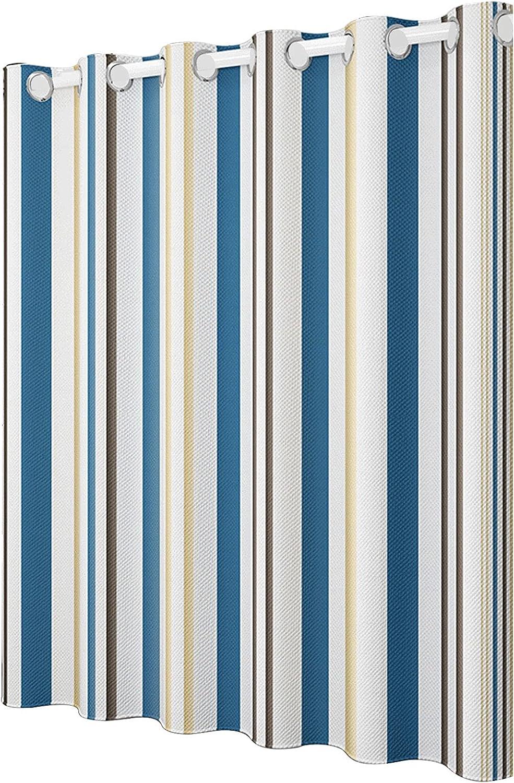 NFKDHB Stripe Shower Curtain Fabric Translated Durable Minneapolis Mall Bathroom Wat