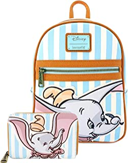 Dumbo Striped Mini Backpack and Wallet Set