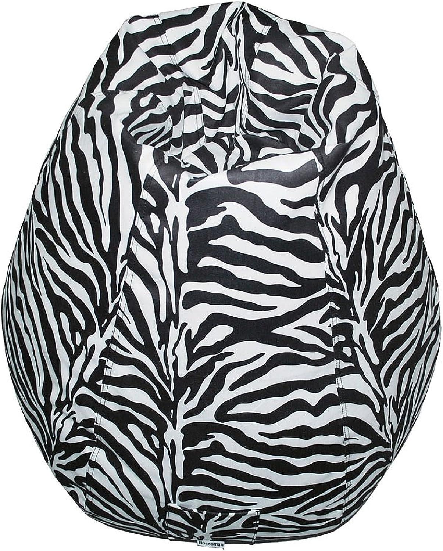 Boscoman - Pearshaped Zebra Animal Print Beanbag Chair (BOX M)