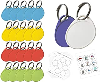Lucky Line Round Label-It Plastic Tags, 25 Pack (25029)