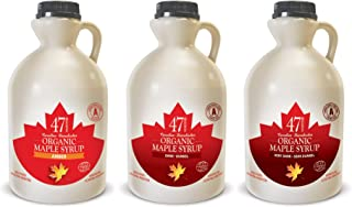 47 North TROIKA Canadian Organic Maple Syrup, Single Source, Grade A; Amber, Dark & Very Dark (3x500ml)
