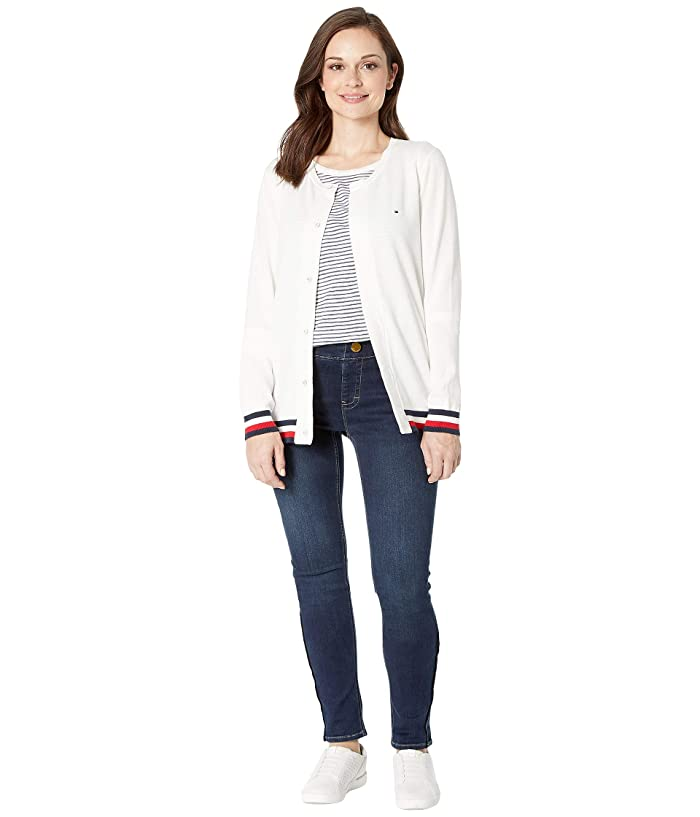 Tommy Hilfiger Girls Big Adaptive Cardigan with Magnetic Buttons