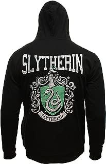 Harry Potter Men's Distressed House Crest Licensed Full Zip Hoodie Sweatshirt