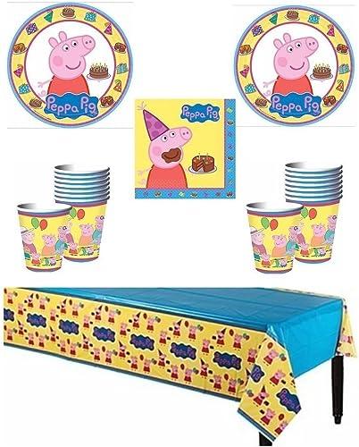 Compra calidad 100% autentica Peppa Pig Deluxe Party Supply Pack for 16 Guests Guests Guests by Party Supplies  presentando toda la última moda de la calle