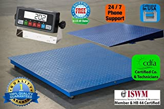 Floor/Pallet/Platform 5000 LB by 0.5 LB 48 x 48 Inches Floor Scale with 1 Ramp NEW