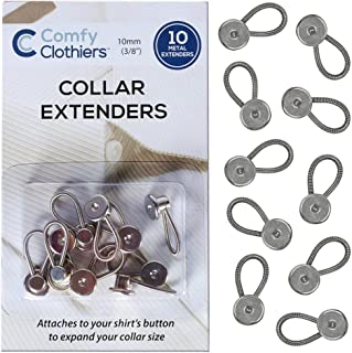 Comfy Clothiers 10-Pack Collar Extenders (Metal Button Extender)