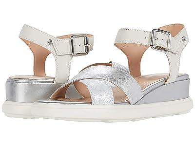 Geox Pisa 4 (Silver/Off-White) Women