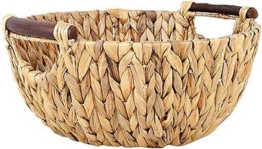 YYZZ Fruit Basket, Creative Rotin Straw woven fruit basket decoration handle storage basket bread basket rotin pique-nique...