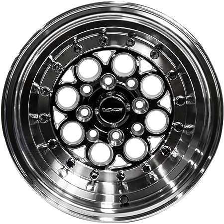 Amazon Com 2x Pair Set 13x9 Vms Racing Modulo 4 Lug Drag Track Wheels Rims 4x100 4x114 Et0 Offset 0 In Black Silver Cast Machined Aluminum For Bmw 3 Series E30 84 91 1984 1991 4 Lug Pattern Automotive