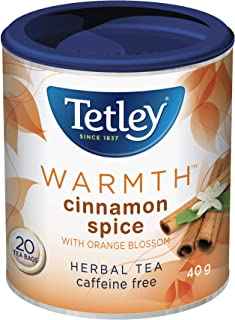 Tetley Tea Warmth (Cinnamon Spice) Herbal Tea, 20 Count, Imported from Canada}