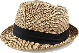 Straw-Fedora-Hats for Men Women Summer Beach Sun Hat Trilby Hat