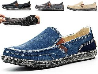 Espadrilles Classiques à Enfiler Homme Chaussures en Toile Mocassins Bateau de Sport Espadrilles Chaussures à Fond Mou Cha...