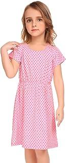 balasha Kids Girls Short Sleeve Dots Cute Dress