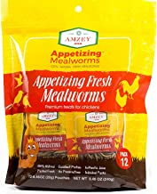 Fresh Mealworms 8.4 oz (1600 Count Total, 12 Bags) Superior to Live Mealworms - Premium Food for Leopard Gecko, Exotic Bir...