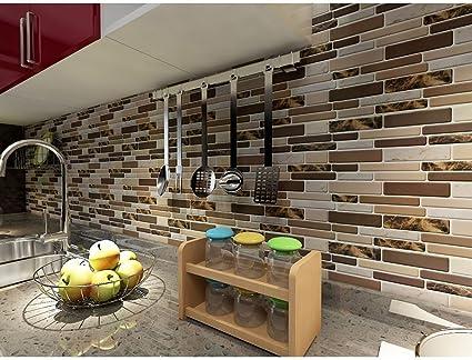 Steelwingsf Autocollants Muraux De Famille Simple Cuisine 3d Style De Tuile Autocollant Mural Autocollant Papier Peint Maison Decoration Bricolage Amazon Fr Cuisine Maison