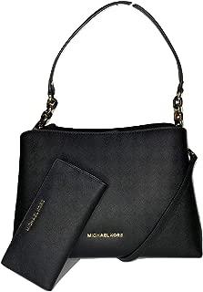 MICHAEL Michael Kors Sofia Large EW Satchel bundled with Michael Kors Jet Set Travel LG Card Case Carryall Wallet