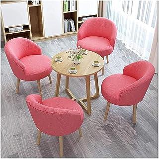 Table de salle à manger, table de salle à manger et chaise combinée pour bureau, réception, loisirs, café, dessert, balco...
