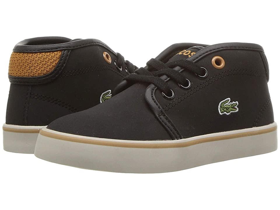 Lacoste Kids Ampthill 318 (Toddler/Little Kid) (Black/Dark Tan) Kid