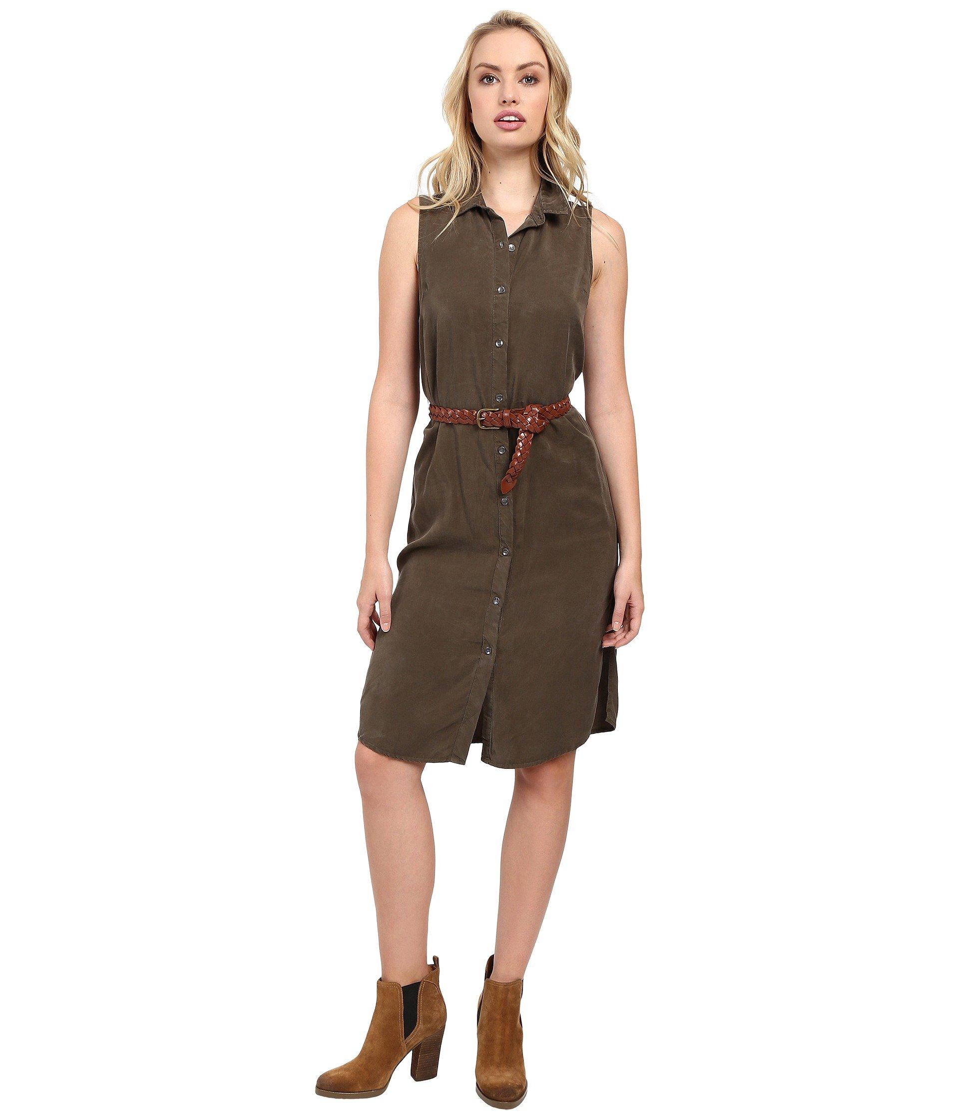 Wilder Tencel Dress, Military Olive