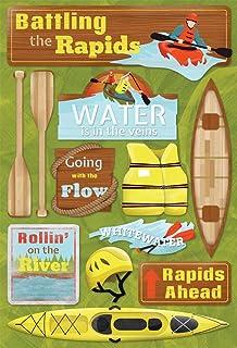 Karen Foster Design Acid and Lignin Free Scrapbooking Sticker Sheet, Battling The Rapids