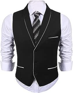 Men's Suit Vest Slim Fit Business Wedding Dress Waistcoat Vests