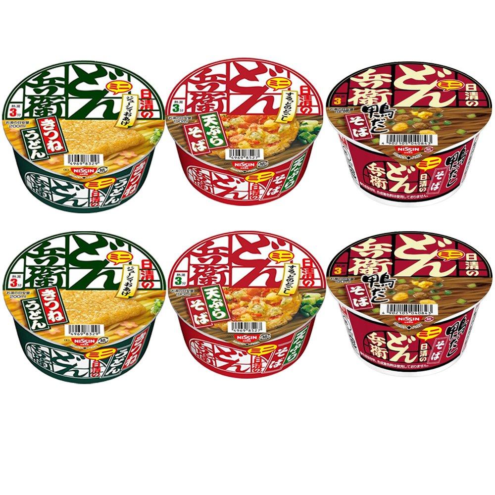 Donbei Mini New Shipping Free Shipping 1.5oz 6pcs Set Direct store Various Soba Nissinn Taste Japan Udon