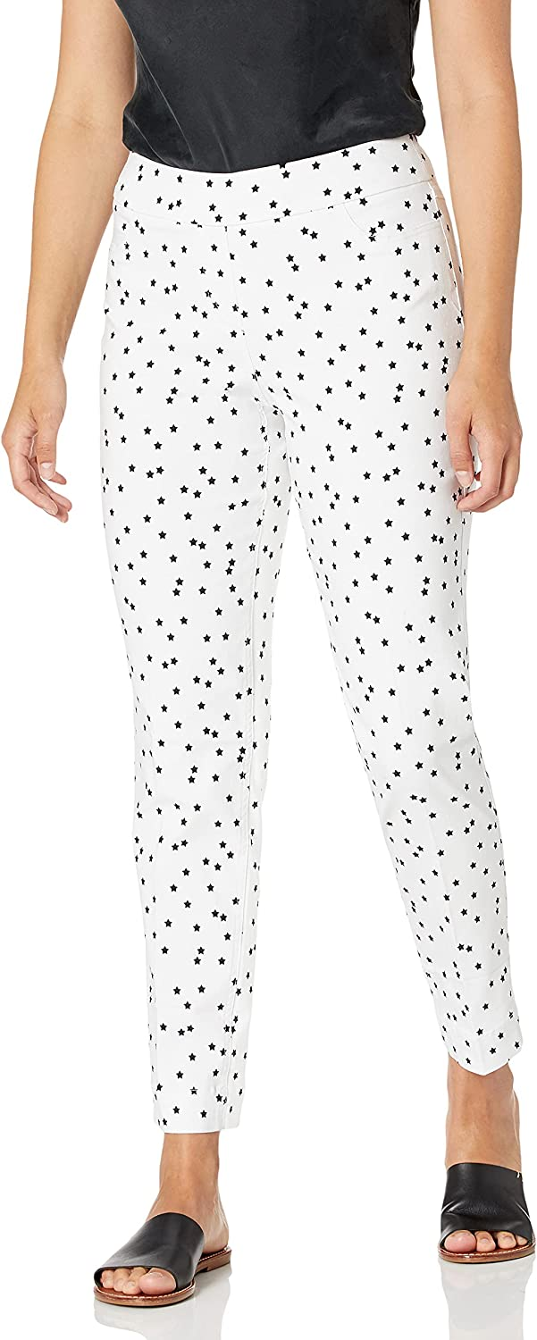 SLIM-SATION Women's Pull on Print Ankle Pant