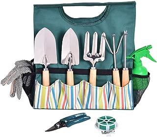 USA_BEST_SELLER 10 pcs Gardening Planting Hand Tools Set Carry Bag Best Garden Tools for Sale. Gardening Tool kit. Gardening Tool Set for mom. Garden Tool Set Home Depot.