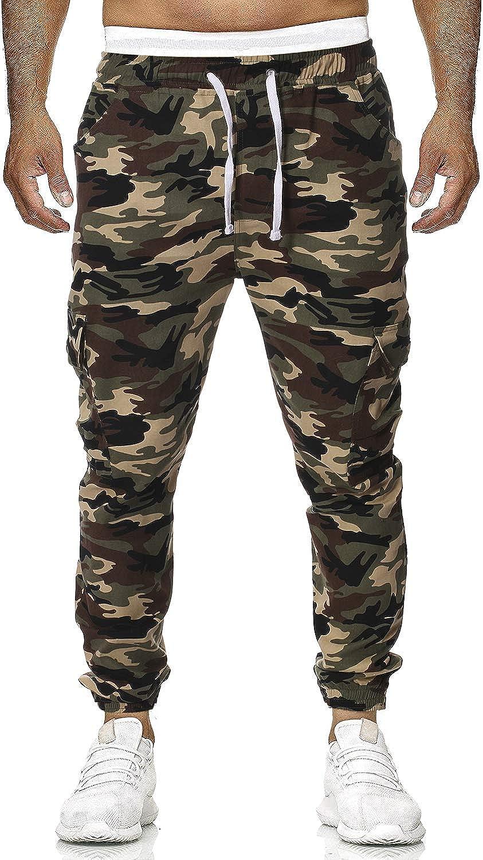 TS,RD.UG Mens Camo Pants Joggers Casual Sweatpants Multi Pockets Elastic Waist Cargo Pant