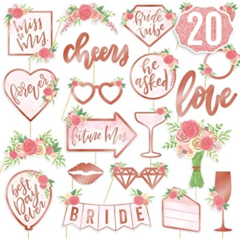 Jonami Hen Party Rose Gold Decorations Team Bride Photo Pro Photo Booth Props Photo Accessories Bride to Be Sash and Tattoos for Hen Party Bachelorette Party Party Bridal Shower