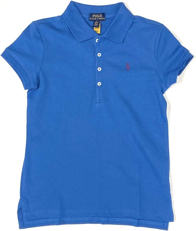 Polo Ralph Lauren Girls Short Sleeve Polo Size 12-14 (Large) Blue