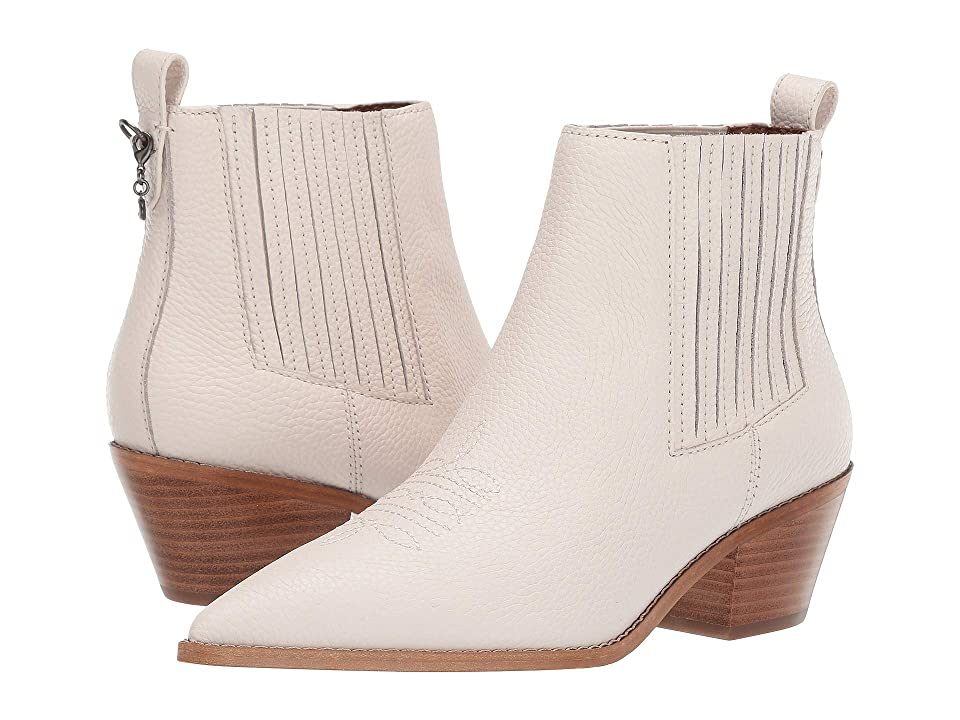 COACH Melody Western Stitch Bootie (Chalk Leather) Women